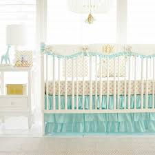 gold and mint nursery set gold polka dot in mint perless collection