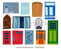 open front door illustration. Beautiful Door Color Door Front To House And Building Flat Design Style Isolated Vector  Illustration Modern New Decoration Inside Open Front Door Illustration L