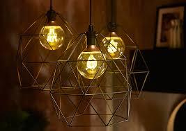 brunsta light shades with nittio light bulbs adds a vintage edge