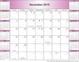 Blank Calendar Page November 2015 2014 Calendar Template