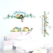 cute monkey wall art wall sticker for kids sweet dream sleeping monkey on monkey wall