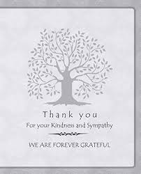 Thank You Sympathy Cards 20 Celebration Of Life Funeral Thank You Cards With Envelopes Acknowledgment Memorial Sympathy Thank You Cards White