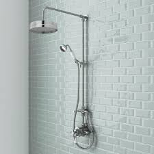 surprising exposed shower faucet kit gallery best inspiration exposed shower faucet kit
