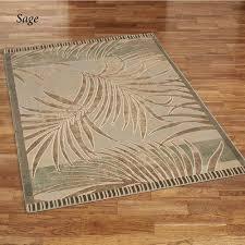palm rectangle rug