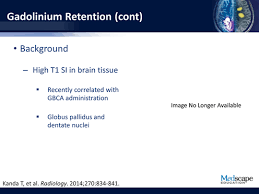 Gadolinium Dose Chart Assessing Gadolinium Based Contrast Agents In Mri In The