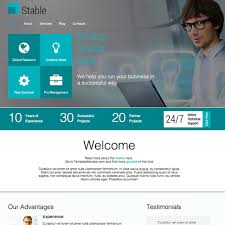 Website Template Cool Stable Responsive Website Template