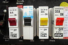 circuit breaker wikipedia Fuse Box Vs Circuit Breaker four one pole miniature circuit breakers fuse box and circuit breaker