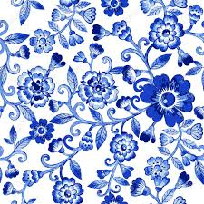 Floral Pattern Beauteous Vector Floral Watercolor Texture Pattern With Blue Flowers