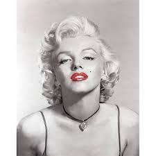 get quotations marilyn monroe black and white red lips necklace canvas wall art  on wall art red lips with cheap lips canvas find lips canvas deals on line at alibaba