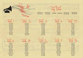 A Wedding Table Plan That Is Music To Your Ears