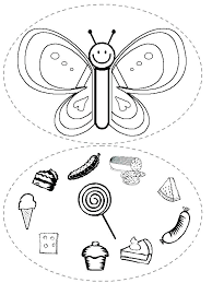 Very Hungry Caterpillar Printable Coloring Sheets Pages Colouring