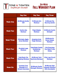 free week fall workout plan tone and tighten for building muscle mass weekly schedule template best