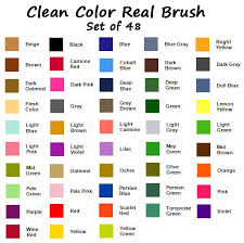 Zig Clean Color Real Brush 48 Color Collection W Case Bonus Water Brush