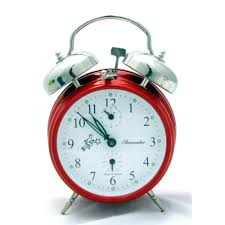 sternreiter double bell alarm clock fire red