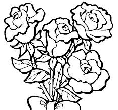 Disegno Di Mazzo Di Rose Da Colorare Acolorecom