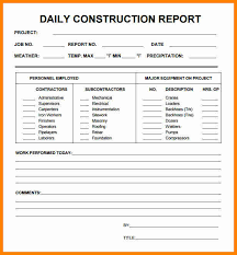 Construction Daily Progress Report Template 10 Guatemalago