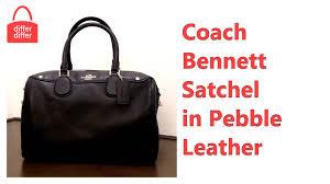 Coach Bennett Satchel in Pebble Leather 36672