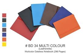 Multicolor Dateless Notebook 296 Pages Business Diaries