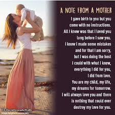 Pin by Angel Exum on sayings | I always love you, Mothers ...