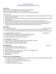 Film Student Resume Resume Ideas