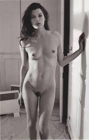 Milla jovovich black and white nude