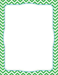 Chevron Green Border Chart Barker Creek