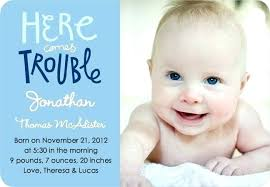 Wording For Birth Announcements Doublebounce