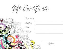 Gift Certificate Printable Free Free Gift Certificate Templates Elegant Format Download
