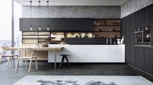 30 Awesome Black And White Wood Log Kitchen Design Ideas