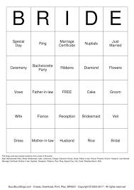 Wedding Bingo Words Bridal Shower Bingo Cards To Download Print And Customize
