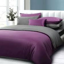 grey and purple duvet covers purple and dark gray solid color comforter bedding set queen size