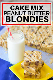 Cake Mix Peanut Butter Blondies