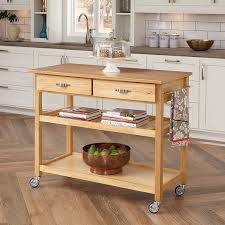 kitchen utility cart. Amazon.com: Home Styles 5216-95 Solid Wood Top Kitchen Cart, Natural Finish: \u0026 Dining Utility Cart N