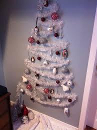 Small space wall Christmas tree.