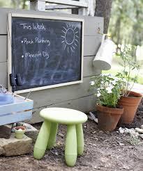 outdoor chalkboard outdoor play area