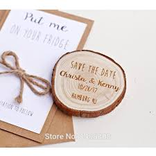 personalized save the date magnets custom wooden save the date magnets rustic wood slice magnet wedding invitations color 1 pcs size without card