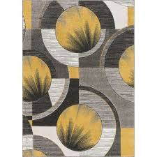 modern abstract geometric gold area rug