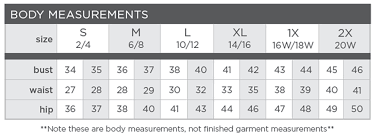Artisan Ny Size Chart Size Chart S13 Nyc