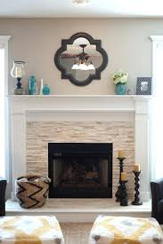 decorative fireplace ideas stacked stone fireplace via decorating ideas decorative fireplace ideas candles