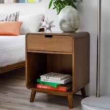 Modern night stand Proof Belham Living Carter Drawer Nightstand Hayneedle Midcentury Modern Nightstands Bedside Tables Hayneedle
