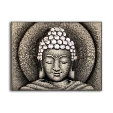 buddha oil painting on canvas for