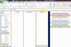 how to create expense reports in excel how to make a quarterly debt expense report in excel rainy day saving