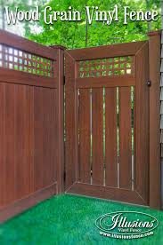 brown vinyl fence panels. Both Security And Function With Rosewood Illusions PVC Vinyl Privacy Fencing Panels Semi-Privacy Brown Fence