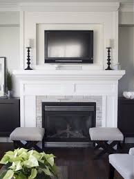 tv over mantle. Contemporary Mantle Iu0027m Not A Fan Of TVs Over Fireplaces But If I Had To Do It This May Be The  Onlyu2026 Inside Tv Over Mantle I