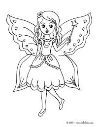 Small Picture Fairy with butterfly coloring pages Hellokidscom
