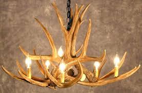 decor redoubtable deer horn chandelier