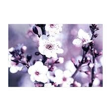 abstract purple lavender cherry blossom framed wall art print decor bedroom bathroom