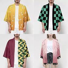 เสื้อคลุมฮาโอริ เสื้อคลุมดาบพิฆาตอสูร เสื้อคลุมครอสเพลย์ เสื้อคลุมการ์ตูน  Cloak Yaiba เสื้อคลุม เสื้อกิโมโน มี 4 ลาย/ 2 ไซส์ พร้อมส่งจากไทย