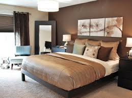 Bedroom decorated with brown hues