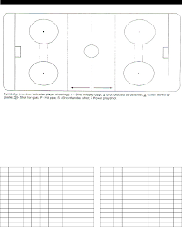 Hockey Shot Chart Scoring Summary Template In Word And Pdf